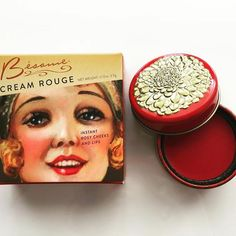 Our Cream Rouges are exact copies from rouges that were popular in 1937 (with modern ingredients of course! As we are Paraben and Cruelty free! ). Their packaging is based on a beautiful old Rimmel tin from Paris we found dating all the way back to about 1912! We hope you feel the history and research we put into this product every time you blush your cheeks! ❤️: @cherrysodasundays