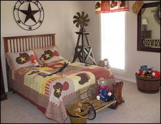 cowboy theme bedrooms - rustic western style decorating ideas - rustic decor - cowboy decor - Cowboy Bedding