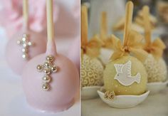 Communion, Cake Pops, Christening, Candy, Baptism Ideas, Cupcake, Fruit, Kids, Frosted Cookies