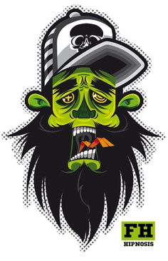 BAD FACE by Frankie Hipnosis , via Behance ★ Find more at http://www.pinterest.com/competing/