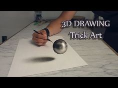 Trick Art Drawing of a steel ball in / haver ball Speed Painting Anamorphic Optical Illusion (oil dry brush technique on aquarellpaper). 3d Illusion Drawing, Illusion Kunst, 3d Art Drawing, Illusion Art, 3d Drawings, Drawing Skills, Drawing Techniques, Art 3d, Drawing Tips
