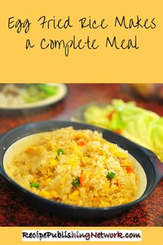 One of the most common dishes served with many Chinese takeout meals is some version or other of fried rice and one of the most popular with many is egg fried rice which is what I serve up in this recipe.