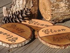 Rustic Wood Dishwasher Natural Branch Magnet by PineBranchDesigns, $6.00