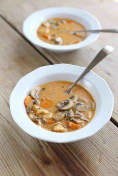 Vegan Pasta, Vegan Soup, Low Carb Recipes, Healthy Recipes, Healthy Food, Hungarian Recipes, Hungarian Food, Soup And Salad, Soups And Stews