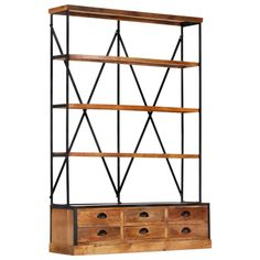I think I Estilo Retro, Small Furniture, Luxury Furniture, Skeleton Wall Clock, Book Cabinet, Standing Shelves, Wooden Bookcase, Luxury Loft, Pedestal Dining Table