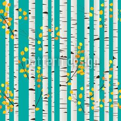 Olgas Birch Grove created by Richard Laschon offered as a vector file on patterndesigns.com