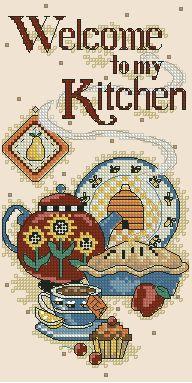 Моя кухня - Посуда, еда, кухонные натюрморты - Схемы вышивки - Иголка