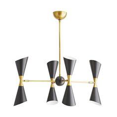 Arteriors Home Fuentes Chandelier 89357 Mid-century Modern, Modern Design, Linear Chandelier, Commercial Lighting, Bronze Finish, Steel Frame, Table Furniture, Modern Lighting, Decorative Accessories