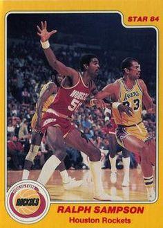 Basketball Pictures, Basketball Cards, Basketball Court, Elgin Baylor, James Worthy, Ralph Sampson, Kareem Abdul Jabbar, Trading Card Database, Houston Rockets
