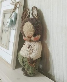 (43) Одноклассники Fabric Animals, Felt Animals, Teddy Pictures, Teddy Toys, Easter Colors, Rabbit Toys, Bear Doll, Needle Felted Animals, Little Doll