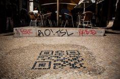 No Chiado, o código digital em calçada é uma novidade mundial