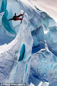 cool awesome exciting crazy amazing extreme sport snowboarding iceboarding mountains