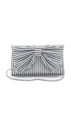 Striped clutch on sale at Shopbop