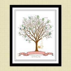 Baby Shower Thumbprint Tree Guestbook - BUNDLE OF JOY Printable