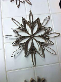 Toilet paper snowflakes!!