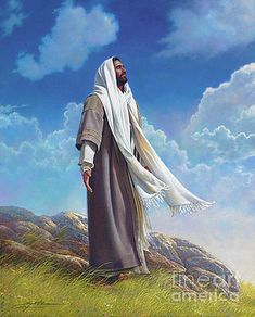 Jesus Art Print featuring the painting Be Still by Greg Olsen Lds Art, Bible Art, Christian Images, Christian Art, Croix Christ, Arte Lds, Image Jesus, Religion, Pictures Of Jesus Christ