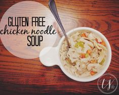 quick, easy, flavorful, healthy GLUTEN FREE chicken noodle soup recipe. A GO to meal!  #glutenfree #soup