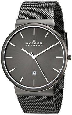 Skagen Men's SKW6108 Ancher Quartz 3 Hand Date Stainless Steel Gray Watch Skagen http://www.amazon.com/dp/B00KNQX43G/ref=cm_sw_r_pi_dp_n5Unvb19GQ673