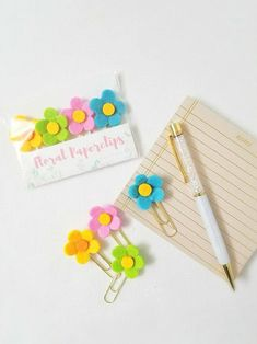 Spring Planner Clips Pastel Flower Planner Clips Felt | Etsy Paperclip Crafts, Paper Clip Art, Happy Planner, Summer Planner, Planner Decorating, Printable Planner Stickers, Diy Arts And Crafts, Craft Fairs, Stationery