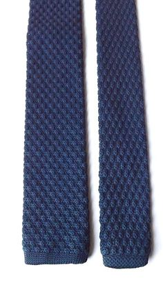 Skinny Knitted Neck Tie Dark Blue Mod Northern Soul Scooter (SU3) FREE P&P #Unbranded #Tie