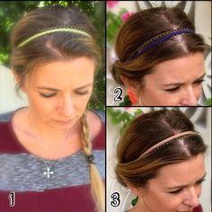 Idee cadeau - headband, bijoux de tête, accessoire cheveux, bandeau pour cheveux bijoux cheveux en cuir et sa chaîne en bronze