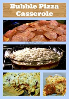 Bubble Pizza Casserole is perfect for parties!