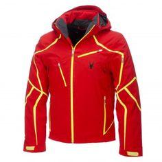 Spyder, Esper Ski jacket, men, Volcano red - Bryte yellow