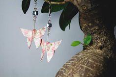 Farfalle origami - farfalla - butterfly - orecchini fatti a mano - ispirazioni - bonsai - carta giapponese - japan - handmade - orecchini fatti a mano - artgianali