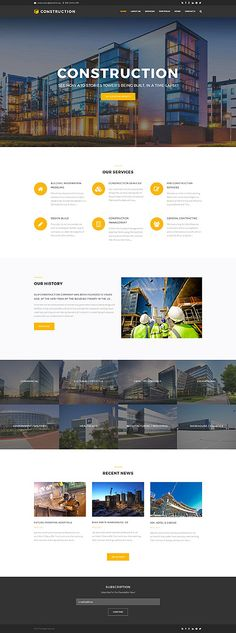 Template 62481 - Construction House  Responsive Drupal Template