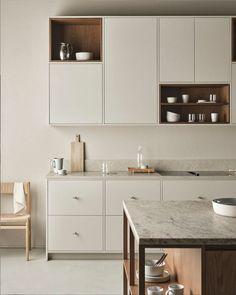 my scandinavian home: Update: Our Tiny House Interior Plans & Inspiration Open Shelving, Shelves, Double Vanity, Nordic Kitchen, Wooden Kitchen, Kitchen Dining, Minimalist Kitchen, Minimalism, Bathroom