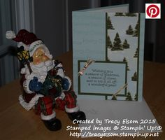 This simple Christmas card uses the new Versatile Christmas Stamp Set and Season of Cheer Designer Series Paper (DSP) from the Stampin' Up! 2015 Holiday Catalogue.  http://tracyelsom.stampinup.net