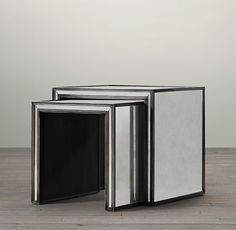 Strand Mirrored Nesting Side Tables $995