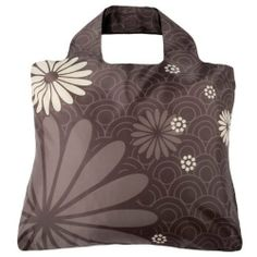 """Envirosax Mikado Bag #5 (MK.B5) by Envirosax. $11.95. Ecofriendly reusable shopping tote. Reusable bag holds 44 pounds of weight. Made from durable ripstop polyester, just wipe with damp cloth and hang to dry. Measures 19.5"""" x 16.5"""" when open and rolls/snaps shut to tiny 4"""" x 1.5"""" roll for easy carrying in purse or pocket. Great for groceries, mall, shopping, gym, beach, toys, library, flea market and much more!. Our Envirosax Mikado Bag #5 is a gray reusable shopping bag tha..."""