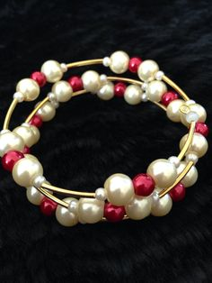 Bridesmaids bracelets in red x