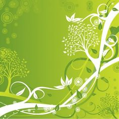 Green Floral Background Vector Illustration