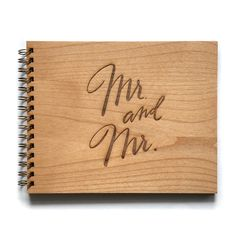 Mr. & Mr. Wedding Guest Book, Unique Wedding Guestbooks, Rustic Wedding Guest Book