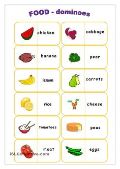 Food flashcards worksheet - Free ESL printable worksheets made by teachers English Games, English Resources, English Activities, English Fun, English Words, English Lessons, Learn English, English Classroom, Classroom Language