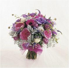 Purple Wedding Bouquet - Wedding Flower Bouquets
