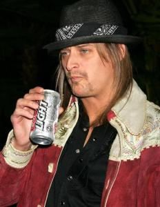 Kid Rock, Coors Light.  Must have been out of water.