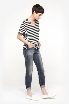 R13 Relaxed Skinny in Basquiat Blue | The Dreslyn