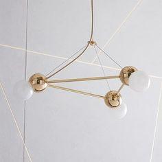 Rosie Li Chandelier - 3-Light (Triangle) #westelm
