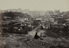 Rue champlain, Ménilmontant / Incredible pictures of Paris in the 1850s by Charles Marville