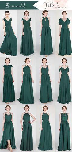 f554dfb35d6 emerald green bridesmaid dresses for fall weddings  wedding   weddinginspiration  bridesmaids  bridesmaiddress