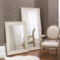 Harrow Large Leaner Mirror, Cream