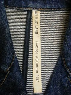 90s' Helmut Lang Denim Jacket