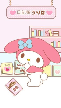My Melody Wallpaper, Hello Kitty Images, Kawaii, Sanrio Characters, Piano, Anime, Walls, Painting, Wallpapers