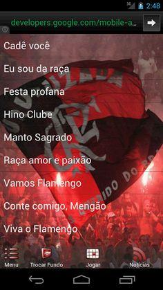 """Flamengo - """"Músicas da Torcida"""" produzido pela Planeta Android, tem como intenção difundir as músicas mais cantadas nos estádios de futebol, quando o Flamengo está em campo.<p>No aplicativo você encontrará:<br>1- Dez canções da torcida do Flamengo além do hino do clube.<br>2- A possibilidade de escutar e acompanhar a letra da música.<br>3- Os controles de som se encontram disponíveis para utilização durante a execução da música escolhida.<br>4- A facilidade de poder definir uma canção como…"""