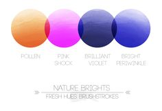 *brushstrokes* | color palette | fresh hues