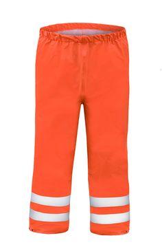 PANTALON HAUTE-VISIBILITÉ IMPERMÉABLE Modèle: 086 Le pantalon, avec la taille élastiquée, possède le réglage par boutons pression en bas de jambes et les bandes rétroréfléchissantes afin de rendre l'utilisateur plus visible. Le modèle est fabriqué en tissu imperméable, respirant et très léger appelé Aquapros, qui est recommandé à l'usage dans des conditions météorologiques défavorables où la visibilité est limitée. Le pantalon protège contre le vent et la pluie.