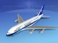 airbus a380-800 china southern  3d model rigged max obj 3ds lwo lw lws dxf dwg 11